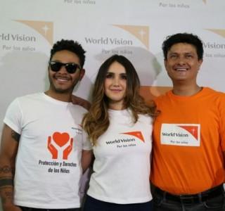 En el marco de la presentación del tema musical Da Amor, compuesto y donado por Juan Pablo Manzanero a World Vision, la organización de ayuda humanitaria presentó a sus embajadores Dulce María, Kalimba y Juan Pablo Manzanero en la Ciudad de México
