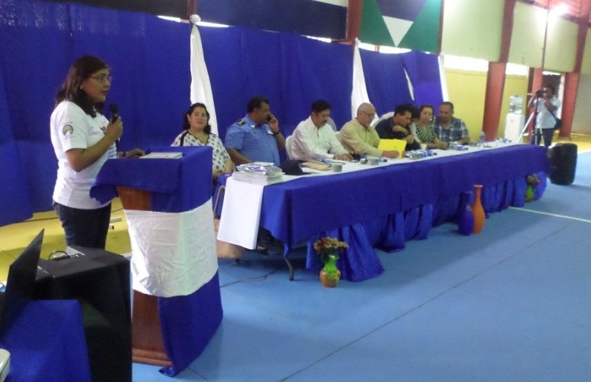 La Gerente del Núcleo 2, Maritza López, agradeció en nombre de World Vision el apoyo de la Corte Suprema de Justicia a los facilitadores judiciales.